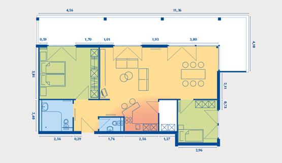 Beispielappartement Typ VIII | 3-Zimmer-Wohnung | ca. 85 m2